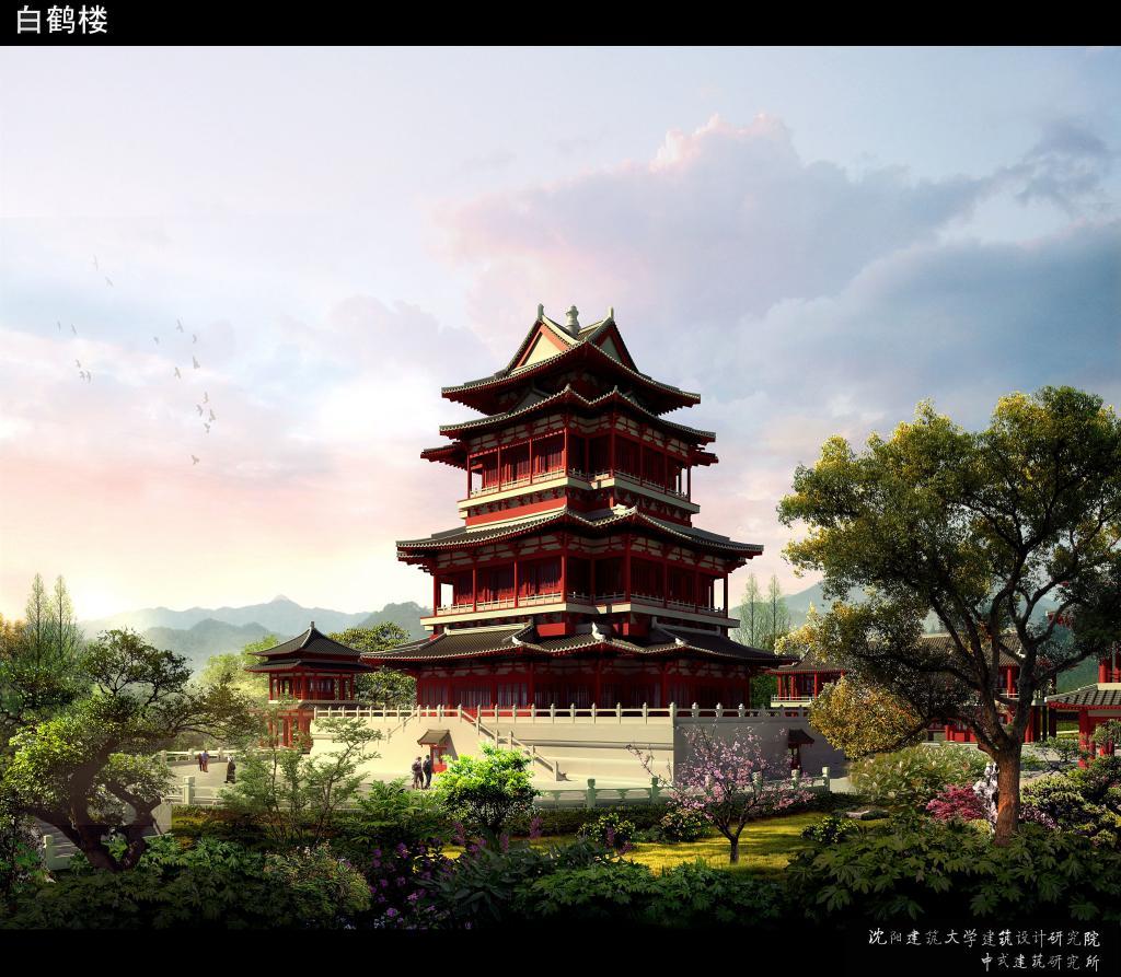 两项作品为《法库县辽文化博物馆(白鹤楼)》,《法库辽代风景小镇》